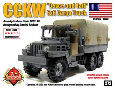 Brickmania - CCKW Deuce and a Half 6x6 Truck, $100.00 (http://www.brickmania.com/cckw-deuce-and-a-half-6x6-truck/)