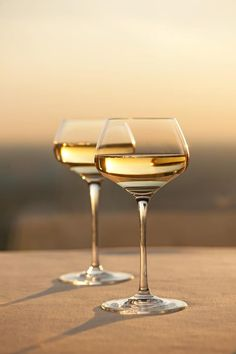 glasses of wine at sunset...Under the Tuscan Sun