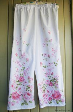 pajamas made from vintage sheets