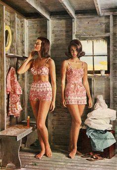 Roxanne Swimsuits 1962 / Carmen Dell'Orefice (L)