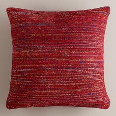 Berry Recycled Silk Sari Pillow   World Market