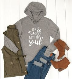 These super soft, comfy & lightweight Long sleeve hoodies are such a great addition to your wardrobe. These are perfect for cooler summer nights and straight info fall.