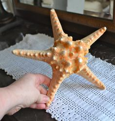 BIG VINTAGE STARFISH!  Lovely Natural Beauty from the Sea Bumpy Textured Starfish Ocean Delight by StudioVintage on Etsy