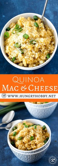 Don't be fooled, just because high protein high fiber quinoa is swapped for traditional pasta, this is your creamy incredibly cheesy mac and cheese of your childhood dreams.  You are sure to swoon with delight at every bite! #glutenfree #hungryhobby #vegetarian  via @hungryhobby