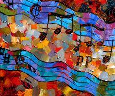 Beethoven Moonlight Sonata art music painting fine art by Debra Hurd, painting by artist Debra Hurd