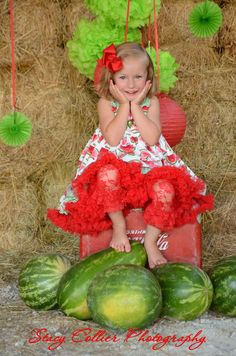 watermelon mini sessions, sassy girl, summer fun photo shoot, collier photography