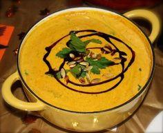 steirische kuerbiscremesuppe (styrian cream of pumpkin soup)