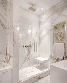 White and gray bathroom - # white - Badgestaltung ideen - Badezimmer Modern Master Bathroom, Small Bathroom, Bathroom Mirrors, Bathroom Marble, Bathroom Cabinets, Bathroom Grey, Minimalist Bathroom, Master Bathrooms, Master Baths