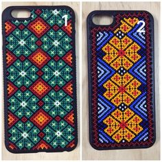 Huichol iphone case iphone case Handmade by thecatrinastore Leather Embroidery, Beaded Embroidery, Bead Loom Patterns, Beading Patterns, Underwear Pattern, Native American Jewellery, Diy Case, Mandala, Homemade Jewelry