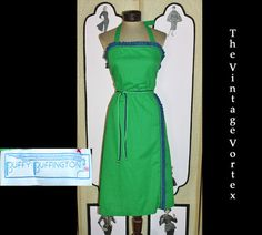 Vintage 1980's Polkadot Sun Dress in Green and by TheVintageVortex, $35.00