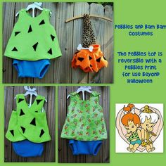 Pebbles and Bam Bam! - OCCASIONS AND HOLIDAYS - My friend has a year old and a 7 month-old. Here are the Pebbles and Bam Bam costumes! Toddler Girl Halloween, Twin Halloween, Halloween Costumes For Girls, Costumes Kids, Halloween 2020, Halloween Ideas, Costume Ideas, Pebbles Flintstone Halloween Costume, Flintstones Halloween Costumes
