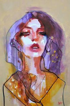 "Saatchi Art Artist Anna Matykiewicz; Painting, ""Venus in Fur"" #art"