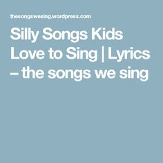 Silly Songs Kids Love to Sing Classroom Displays, Music Classroom, Classroom Ideas, Silly Songs, Kids Songs, Teaching Music, Teaching Kids, Campfire Songs For Kids, Music For Toddlers