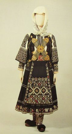 Welcome to Europeana Greek Traditional Dress, Traditional Outfits, Folk Clothing, Greek Clothing, Historical Costume, Historical Clothing, Dance Costumes, Greek Costumes, Folk Costume