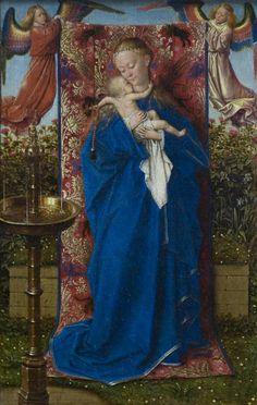Madonna at the Fountain by Jan Van Eyck Size: 22.2x19 cm Medium: oil, wood