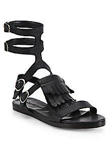 FREDA SALVADOR - Fringed Gladiator Sandals
