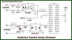 Arduino with zero-crossing detector for AC power control. Dc Circuit, Circuit Diagram, Esp8266 Projects, Smart Home Automation, Ac Power, Electronics Projects, Circuits, Zero, Education