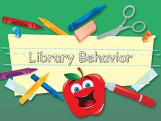 beginning of the year SmartBoard activity on library behavior