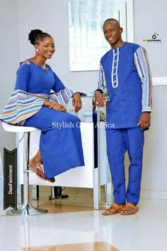 Hello guys, welcome to another edition of our African Print Styles Collection. Today we are looking at Mr & Mrs - our couple African Print Styles compilation. Couples African Outfits, African Dresses For Kids, African Clothing For Men, African Shirts, Couple Outfits, African Print Fashion, Africa Fashion, Tribal Fashion, African Attire