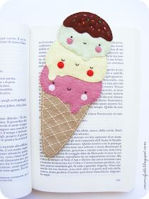 i ManuFatti: I ❤ ice cream bookmark (in Italian and English)