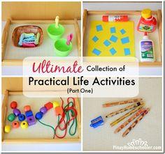 Practical life activities - Montessori inspired.