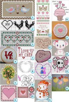 Patrones y gráficos gratis: valentines sobrantes   Costura Noticias   CraftGossip.com
