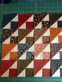 mini quilt civil war reproduction blocks - I've been very much into modern quilts but something about this tickles me me Scrappy Quilts, Easy Quilts, Mini Quilts, Quilt Block Patterns, Quilt Blocks, Quilting Projects, Quilting Designs, Civil War Quilts, Miniature Quilts