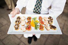 wedding appetizers, photo by www.anniegerber.com