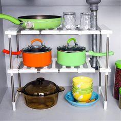 Superposition Shelf Multilayer Foldable Storage Racks Kitchen Shelving Holders Multi Use Organizer