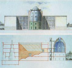 Watercolor : Bonnefanten Museum Maastricht : Aldo Rossi