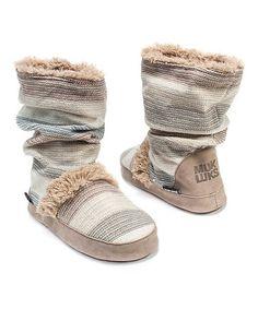 Look what I found on #zulily! Light Beige Jenna Slipper Boot - Women by MUK LUKS #zulilyfinds