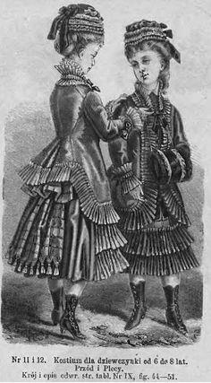 Strój dla dziewczynki 6-8- lat, 1876 Dress for a 6-8 years old girl, 1876