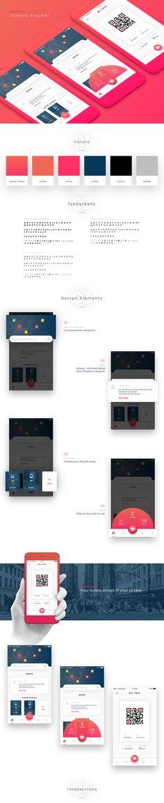 Transit Tracker - Concept on Behance - My Original Ideas Graphisches Design, Web Ui Design, Layout Design, Flat Design, Interior Design, App Design Inspiration, Mobile Ui Design, User Experience Design, Application Design