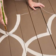 Photo: Deborah Whitlaw Llewellyn | thisoldhouse.com | from How to Paint Oversize Blossoms on Your Porch Floor