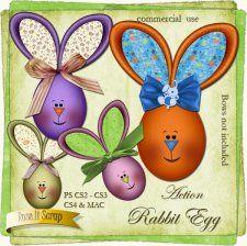 Action - Rabbit Egg by Rose.li #CUdigitals cudigitals.comcu commercialdigitalscrapscrapbookgraphics