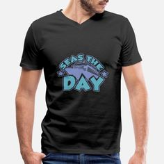 Funny Cruising Quote: Seas The Day For Cruisers Men's V-Neck T-Shirt ✓ Unlimited options to combine colours, sizes & styles ✓ Discover V-Neck T-Shirts by international designers now! Cruise Quotes, Product Offering, Seas, Custom Clothes, V Neck T Shirt, Cool Designs, Hoodies, Funny, Mens Tops