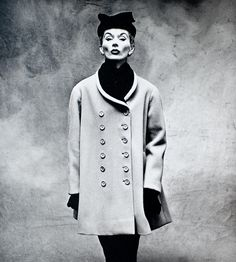Lisa Fonssagrives-Penn wearing a Balenciaga coat.  Photo by Irving Penn, Paris, 1950.