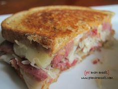 cheesy reuben sandwich