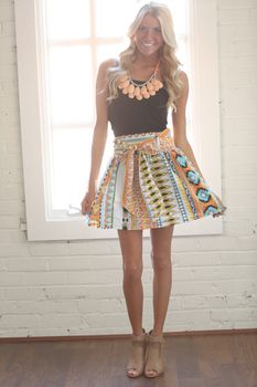Out of This World Tribal Tie Skirt - Modern Vintage Boutique