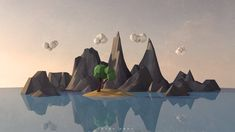 Low Poly Landscape by ToLgaORDU on DeviantArt