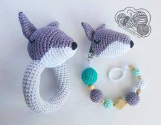 Nino el Lobo chupetero crochet ganchillo a migurumi wolf