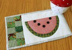 Quilting: Summer Watermelon Mug Rug