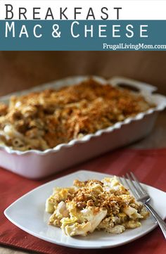 Mac and Cheese for BREAKFAST!!  Yes, you can!  This can all the great stuff you want in the morning all wrapped up in your favorite Macaroni and Cheese!