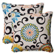 Pom Pom Play Lagoon 18.5-Inch Throw Pillow (Set of 2)