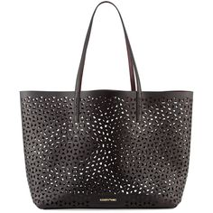 Elizabeth and James Daily Perforated Leather Tote Bag (637 AUD) ❤ liked on Polyvore featuring bags, handbags, tote bags, perforated leather tote, leather tote purse, white purse, genuine leather tote and white leather tote