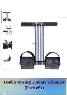 Checkout this latest Other Wellness Products Product Name: *Double Spring Tummy Trimmer (Pack of 1)* Easy Returns Available In Case Of Any Issue   Catalog Rating: ★4.1 (7194)  Catalog Name: Liboni Double Wheel Abs Roller Gym/ Spring Abs Exerciser/Foot Massager Vol 1 CatalogID_520915 C125-SC1392 Code: 322-3727702-867