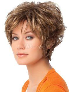 Gala by Eva Gabor Wigs - Wigs Short Shag Hairstyles, Short Layered Haircuts, Short Hair Wigs, Short Hairstyles For Women, Wig Hairstyles, Layered Hairstyles, Pixie Haircuts, Stylish Hairstyles, Amazing Hairstyles