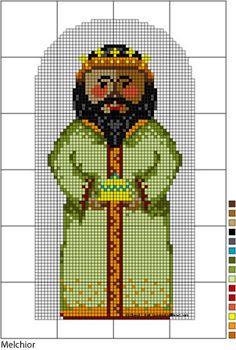 Nativity Series - Three Kings Needlepoint Pattern Set: Melchior