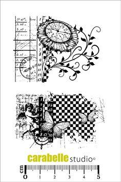 Tampon scrapbooking en caoutchouc A7 - Art Stamp - Carabelle Studio