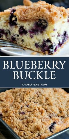 A delicious, year old family recipe for Blueberry Buckle that has been passed down through generations! A delicious, year old family recipe for Blueberry Buckle that has been passed down through generations! Köstliche Desserts, Delicious Desserts, Dessert Recipes, Health Desserts, Recipes Dinner, Unique Desserts, Fruit Recipes, Pie Recipes, Recipies